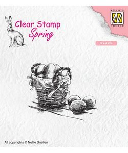 Nellie's Choice Clear Stamp Easter eggs