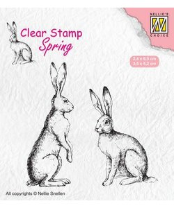 Nellie's Choice Clear Stamp Two hares