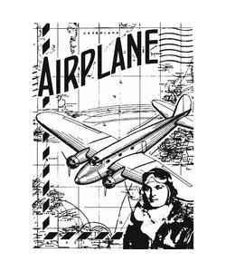 Sharon Callis cl. stamp Airplane