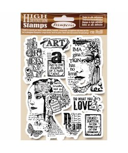 Stamperia rubber stamp Art is the journey