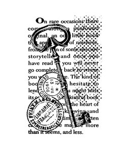 Stamperia rubber stamp Key words