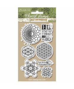 Stamperia rubber stamp Sacred Geometry