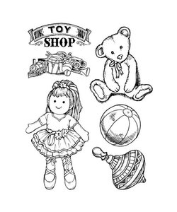 Stamperia rubber stamp Toy Shop Baby
