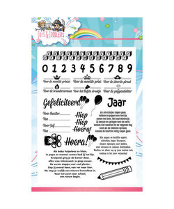 Yvonne Creations Stempel tekst Tots & Toddlers bab