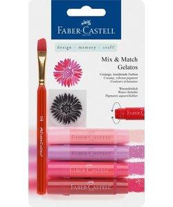 Faber Castell Gelatos Mix & Match Roze Rood