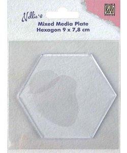 Nellie's Choice Mixed Media Plate Hexagon
