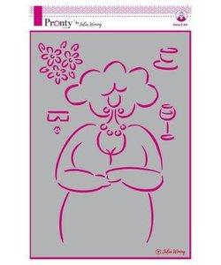 Pronty Julia Woning Stencil Lovely Lady