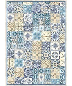 Stamperia rice paper A3 Blue & Ocher Tile