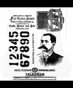 Tim Holtz Cling Stamp Purveyor