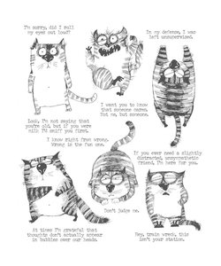 Tim Holtz Cling Stamp Snarky Cat