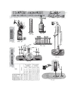 Tim Holtz Cling Stamp Laboratorie