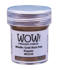 Wow Embossing Powder Metallic Gold Rich Pale Regular 15ml