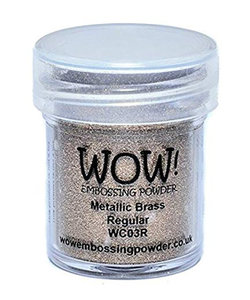 Wow Embossing Powder Metallic Brass Regular 15ml