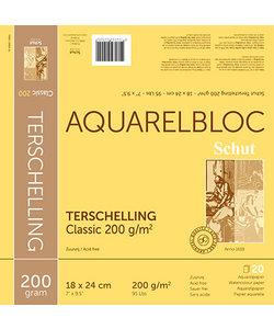 Schut Terschelling Aquarel Papier Blok Classic 200g 18x24cm