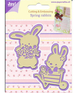 Joy Snij-/emb. mal Spring konijnen