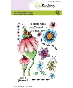 Craftemotions Clear stamp Bugs & Flowers 2