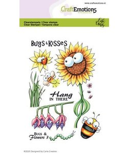 Craftemotions Clear stamp Bugs & Flowers 3