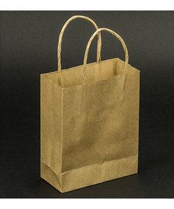 Folia Kraft Papieren Tas 12x5.5x15cm