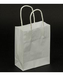Folia Kraft Papieren Tas Wit 12x15x5.5cm