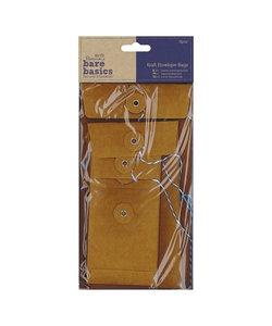Papermania Bare Basics Kraft Envelope Bags Brown