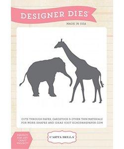 Carta Bella Design Dies giraf olifant
