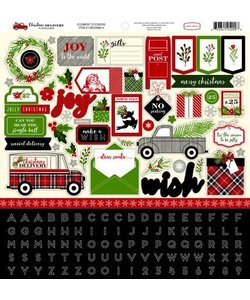 Carta Bella Christmas Delivery 12x12 inch Stickers