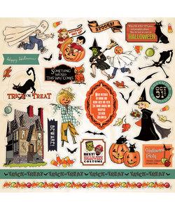 Carta Bella 12x12 stickersheet Trick or Treat