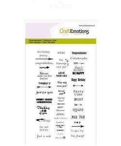 Craftemotions Clear Stamp Diverse Teksten Nl/Eng