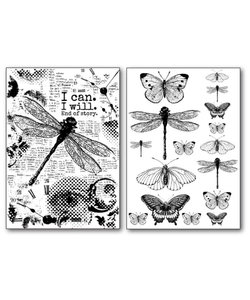 Stamperia Transfer Paper A4 Dragonfly en Butterfly's