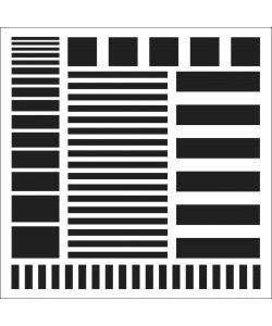 """TCW Template 6""""x6"""" Stripes"""