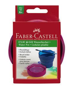 Faber Castell Clic & Go Waterbakje Rood