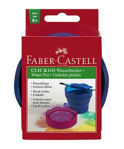 Faber Castell Clic & Go Waterbakje Blauw