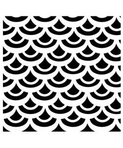 """TCW Template 12""""x12"""" Fish scales"""