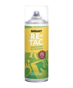 Ghiant Re-Tac Repositionable Mounting Spray 400 ml.