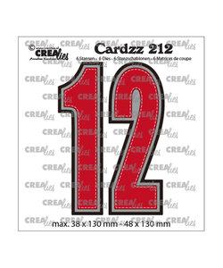 Crealies Stansmal cijfers 1 en 2  h:13cm