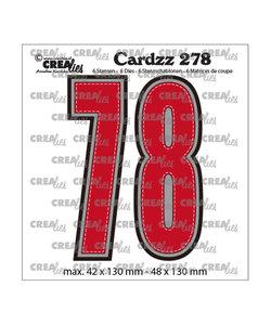 Crealies Stansmal cijfers 7 en 8  h:13cm