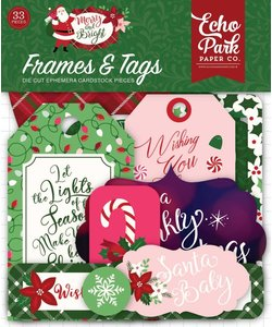 Echo Park Frames tags Merry & Bright