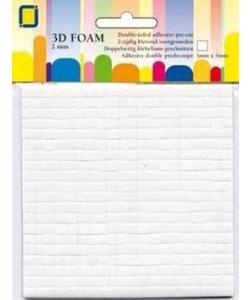 JeJe 3d Foam Pads 5 x 5 x 2 mm Wit 400 st