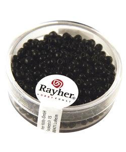 Rayher Rocailles Borduurkralen Opaque 2,6mm Zwart 17g