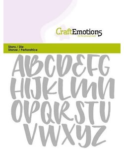 CraftEmotions Stansmal Alfabet Hoofdletters Card 11x9cm.