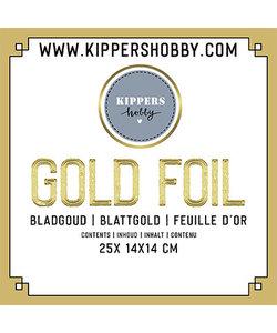 Gold Foil, bladgoud 14 x14 cm 25 st.