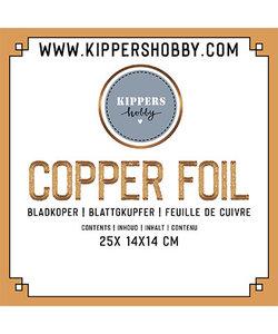 Copper Foil, bladkoper 14 x14 cm 25 st.