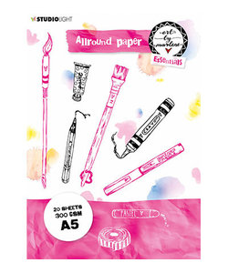 Allround Paper pad Watercolor 300 gr. A5 Essentials nr. 2 BM02 20 vel