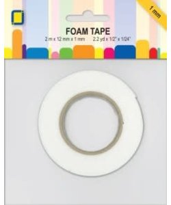 JeJe Foam Tape 3d Dubbelzijdig 12 mm x 1 mm 2 meter