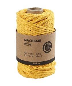 Macramé Koord Geel 4mm 55m 330g