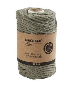 Macramé Koord Mosgroen 4mm 55m 330g