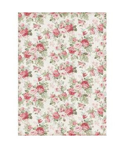 Stamperia rice paper A4 Texture Big Roses
