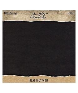 Tim Holtz Idea-Ology Kraft stock 8 x 8 inch Black 24 pcs.