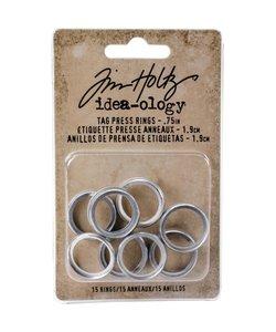 Tim Holtz Idea-Ology Tag press rings 1.90cm 15 pc