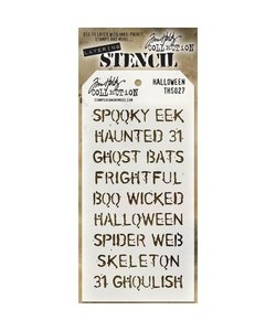 """Tim Holtz Layered Stencil 4.125 """"X8.5"""" Halloween"""